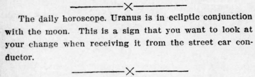 moon uranus conjunction description from newspaper in 1919