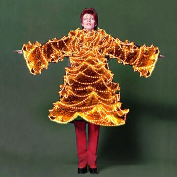 David Bowie in Christmas Tree costume